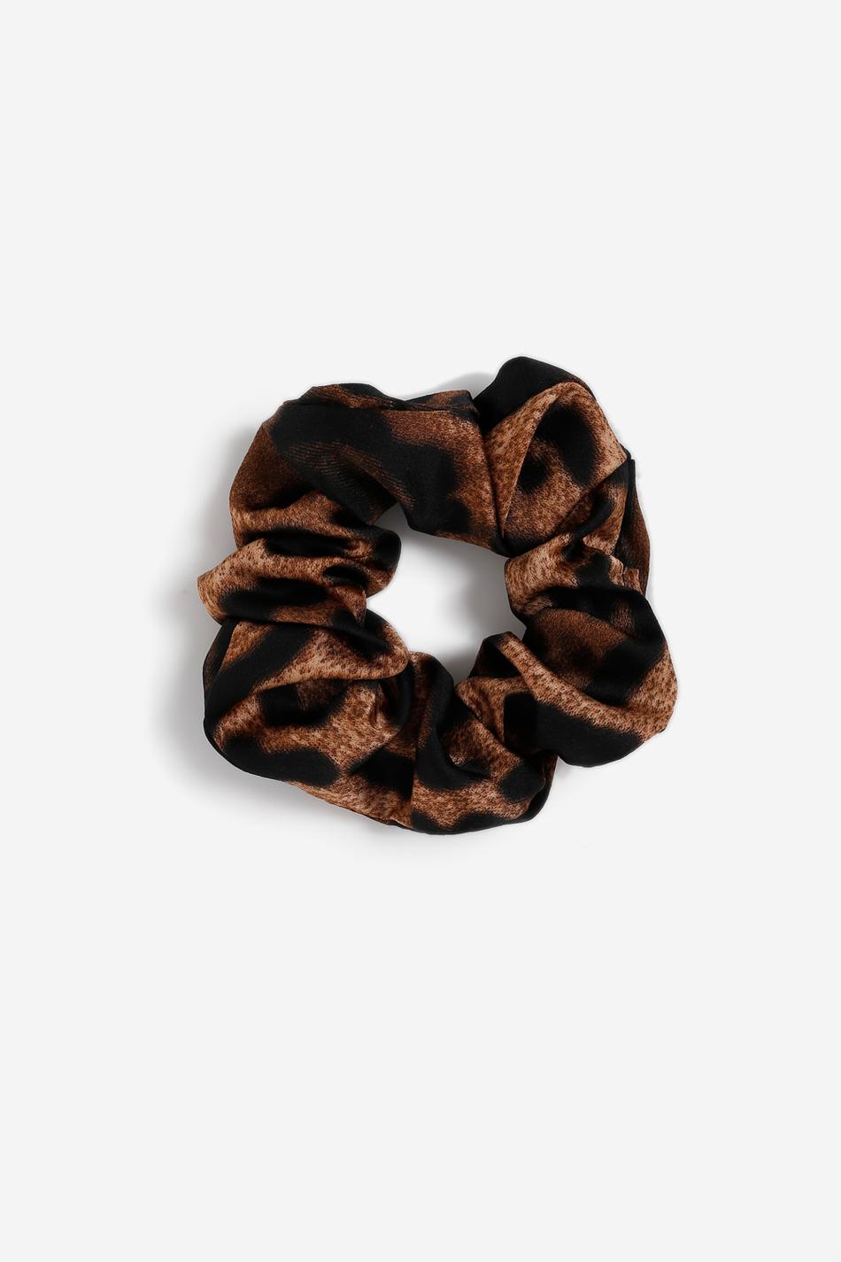 Gina Tricot Leo scrunchie Female Brown one size